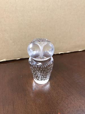 Vicke Lindstrand Kosta Boda Sweden Crystal Owl Paperweight for Sale in San Antonio, TX