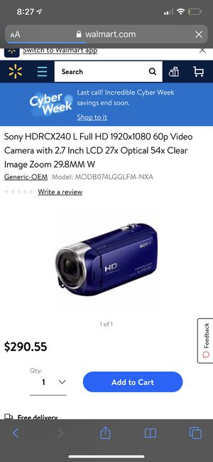 Extremely Good Sony HD Video camera for Sale in Rockville, MD