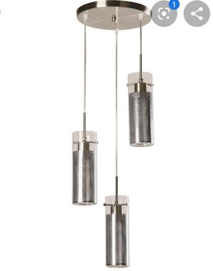 LIGHTING 3-LIGHT MULTI-LIGHT PENDANT - IN BRUSHED NICKEL FINISH WITH CLEAR GLASS SHADE for Sale in Miami, FL