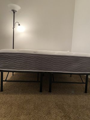Full size bed with frame for Sale in Belleville, IL