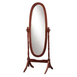 "59"" Traditional Style Solid Wood Oval Cheval Swivel Mirror with Stand - Walnut Finish for Sale in Los Angeles,  CA"