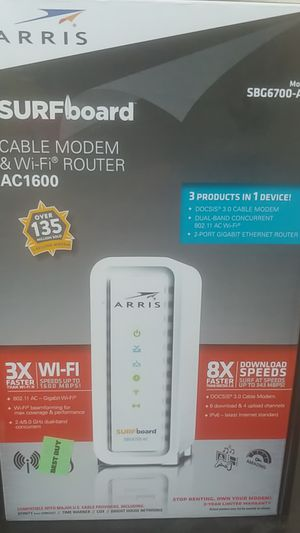 Arris Surfboard cable modem and wifi router for Sale in Denver, CO