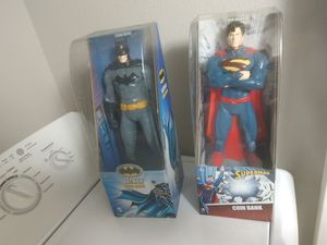 """DC Comics Superman and Batman 14"""" Action Figure Collectible Coin Bank - New for Sale in Bloomington, CA"""