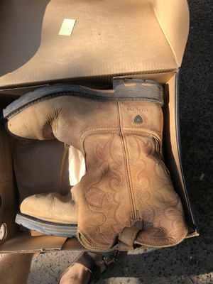 Ariat steel toe work boots 12EE for Sale in New Orleans, LA