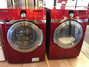 SAMSUNG FRONT LOAD WASHER AND. DRYER SET for Sale in Ontario, CA