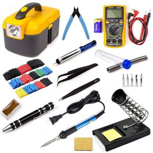 Iron Tool Kit Electronics Adjustable Temperature Welding Tool With Digital Multimeter 5pcs Soldering Tips and 328pcs Heat Shrinkable Tube for Sale in Houston, TX