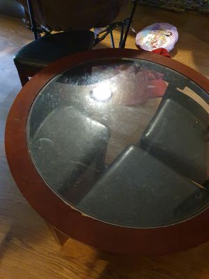 Coffee Table with Padded Stools for Sale in Portland, OR