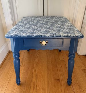 Blue side table or nightstand for Sale in Raleigh, NC
