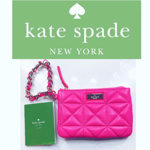 NWT Kate Spade ♠️ Hot Pink Leather Wristlet for Sale in Irving, TX