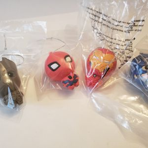 Marvel Avengers 4 Little Figurines Toy You Can Hang. Spiderman, Groot, Ironman, Captain America for Sale in Southington, CT