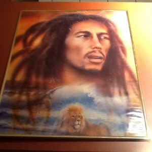 BOB MARLEY FRAMED 22. X. 28. PICTURE. ***** for Sale in Palm Beach Gardens, FL