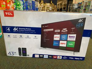 """Brand New TCL 43"""" 4K Smart ROKU TV! for Sale in Torrance, CA"""