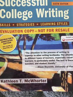 Successful College Writing Evaluation Copy for Sale in San Jose,  CA