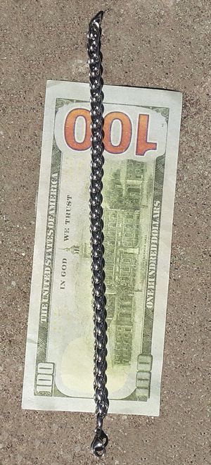 """8""""Stainless Steel Triple Link Rope Chain Bracelet 6MM for Sale in Union, WA"""