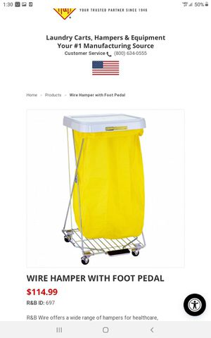 Wire hamper with foot pedal for Sale in Bedford, OH