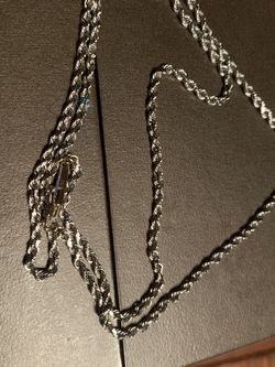 Men's White Gold Rope Chain for Sale in Tacoma,  WA