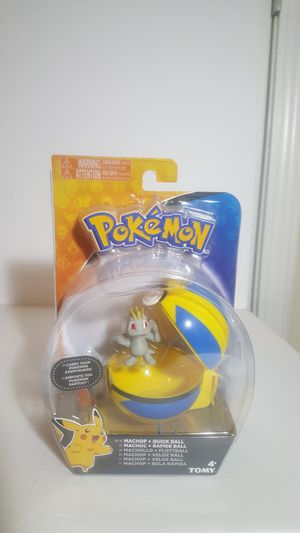Pokemon Machop and Quickball clip on carry case with the action figure included for Sale in Dawson, GA