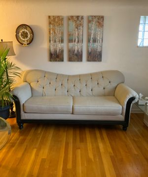 Scarlet sofa and loveseat beige color original price $999 for Sale in Homestead, PA