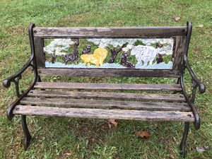 Small vintage cast iron child's garden bench - zoo safari theme for Sale in Wyckoff, NJ