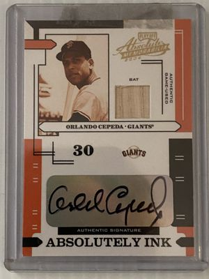 Orlando Cepeda 2004 Playoff Absolute Autograph for Sale in Kissimmee, FL