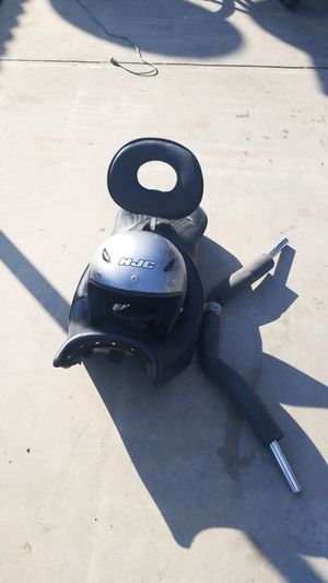 Motorcycle seat, helmet and handlebars for Sale in Fresno, CA
