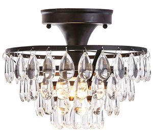 Brand New Chandelier- Black and Crystal for Sale in Newport News, VA