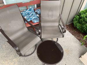 2 chair 1 table set Outdoor Furniture for Sale in Snohomish, WA