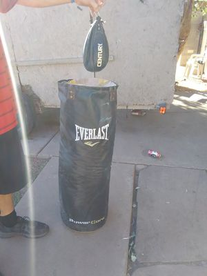 Everlast punching bag & speed punching bag for Sale in Phoenix, AZ
