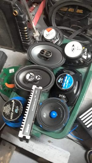 Car stereo system, plus extra everything included in pics. for Sale in Camden, NJ
