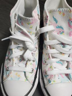 Chuck Taylor ALL Star Unicorn 🦄 High Top Sneakers Size 12 Youth- NEW for Sale in Renton,  WA