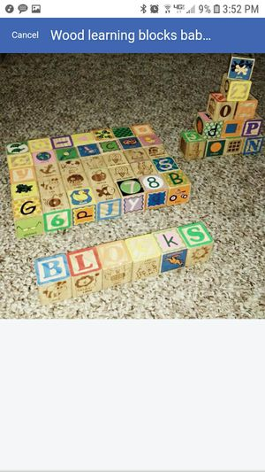 Wood learning blocks baby toddler child for Sale in Lakewood, WA