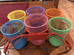2 sets of 6 Art Craft cup storage supply cups for Sale in Stockton, CA