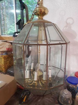 """32"""" x 19"""" octagon brass chandelier for Sale in Battle Ground, WA"""