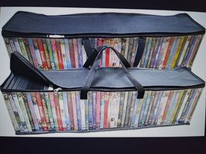 (2) DVD/Bluray storage bags -$15 LIKE NEW for Sale in Pompano Beach, FL
