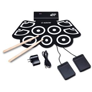Roll Up Electronic Drum Kit Portable Electric Practice Set Drumsticks Sticks Musician for Sale in Chicago, IL