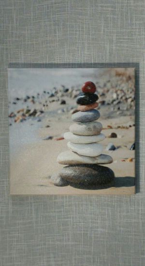"Stacked Stones Canvas Wall Art 12""x12"" *PICKUP ONLY* home decor, household, pictures for Sale in Mesa, AZ"