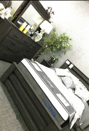 🍻$39 Down Payment 💥  Brinxton Black Panel Bedroom Set | B249 for Sale in Jessup, MD