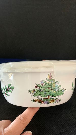 """Spode Christmas tree 6.5"""" with lid storage container for Sale in Rancho Cucamonga, CA"""