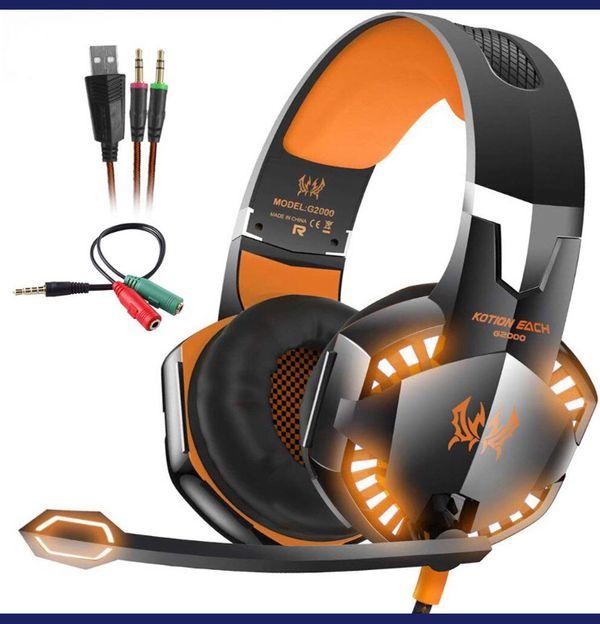 Kotion EACH G2000 Stereo Gaming Headset Deep Bass Computer Game Headphones