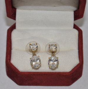 Vintage Gold Faux Diamond Stud Earrings for Sale in Irvine, CA
