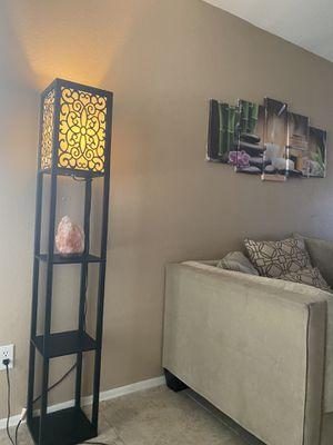 Floor wood lamp for Sale in Phoenix, AZ