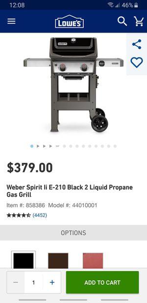Weber Spirit E - 210 with cover for Sale in Avondale, AZ