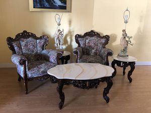 Living Room Set: Victorian/French Antique Style for Sale in Diamond Bar, CA