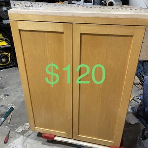 Solid Maple Cabinet With Shelves for Sale in Anaheim, CA