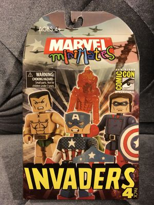 INVADERS MARVEL MINIMATE-SDCC EXCLUSIVE 2008-4 PACK BOX SET-NEW-CAPTAIN AMERICA for Sale in Fresno, CA