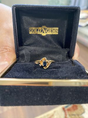 Blue Sapphire Ring, 14K Or 18K Gold, Size 6 for Sale in Tustin, CA