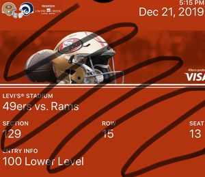 49ers v. Rams (1 or 2 tickets) Dec. 21 @ Levi's Stadium for Sale in Hayward, CA