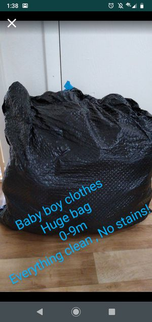 Baby boy 0-9 mix clothes . Great stuff. Huge bag 30$ for Sale in Lakewood, CO
