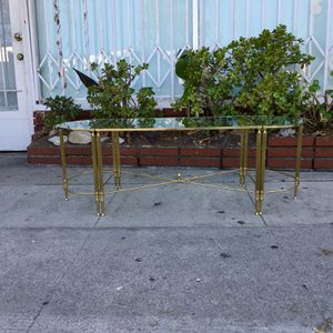 Mid Century Brass Coffee Table & Side Table Set for Sale in Los Angeles, CA