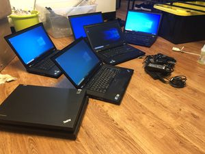 Lenovo Thinkpad laptops Intel i7/i5@ 2.5GHz, Hard drive 320gbRam 4gb, webcam, dvd, wifi,$110for each one for Sale in Queens, NY